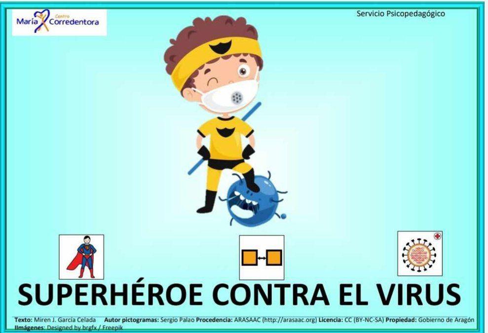 Súper héroe contra el virus