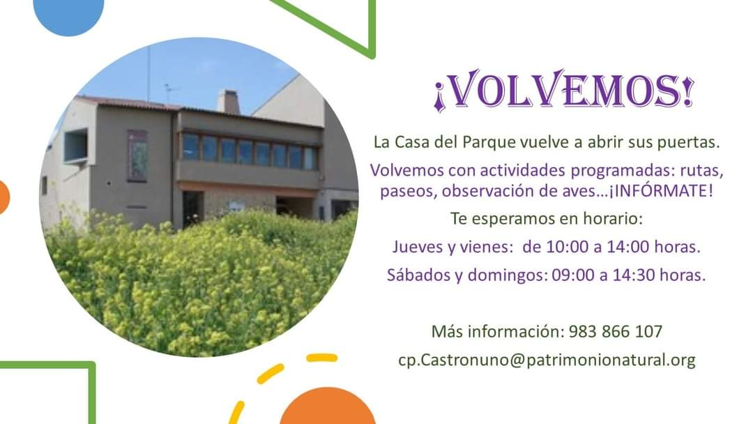 Vuelve la Casa del Parque de Castronuño