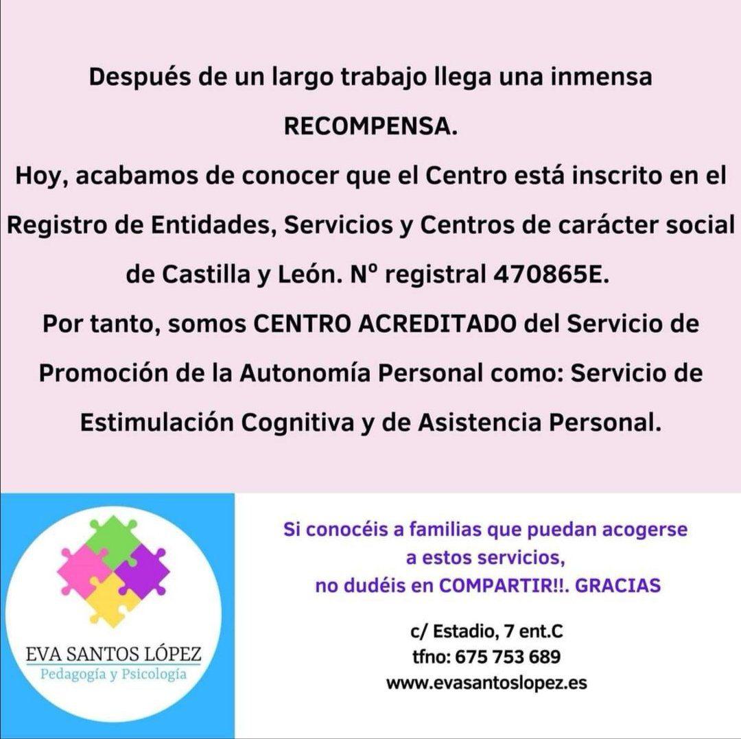 Servicio de estimulación cognitiva y de asistencia personal