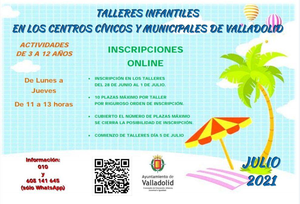 Talleres en los Centros Cívicos de Valladolid